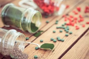 chia seeds and spirulina