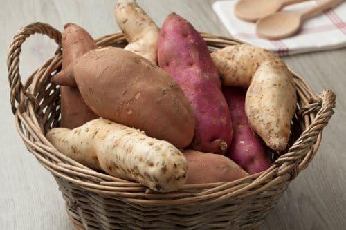 Basket Of Sweet Potatoes